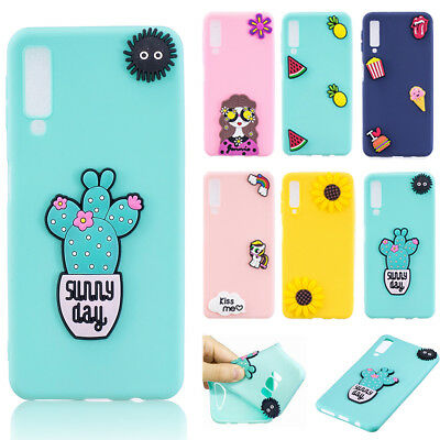 3D Cute Gift Soft Silicone Case Cover Back For Samsung A9 A7 A8 2018 J6 J4 phone