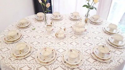 Antikes Rosenthal Teeservice Kaffeeservice 12Pers Pompadour Art Deco Streublumen