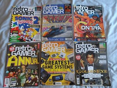 Set of 5 retro gamer issues and 1 annual