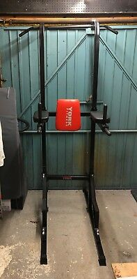 York Fitness Workout Tower - Pull Up Bar - Dip Station - Leg Raises