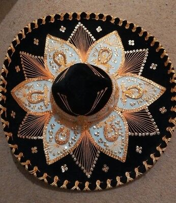 Original Mexican Hat Made in Mexico approx 22 inches brim to brim. Costume?