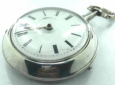 1831 Working W Guest Windsor Verge Fusee English Silver Pair Case Pocket Watch