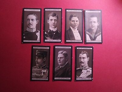 1908 Wills Portraits Of Men European Royalty Denmark 7 cards
