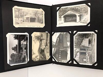 Vermont Covered Bridge Post Card Album 186 Plus Cards RPPC Linen Glossy