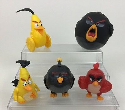 Angry Birds Movie Figures Toy Lot 5pc Rovio McDonalds Burger King 2016 B8