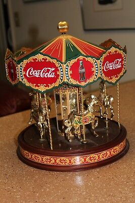 Rare Limited Edition Coca Cola Musical Horse Carousel from the Franklin Mint