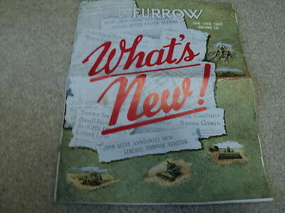 Vintage John Deere The Furrow Magazine Jan.- Feb. 1947 What's new