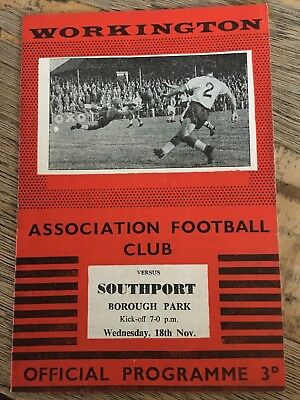 1959/60 Workington v Southport - FA Cup replay - Excellent Condition