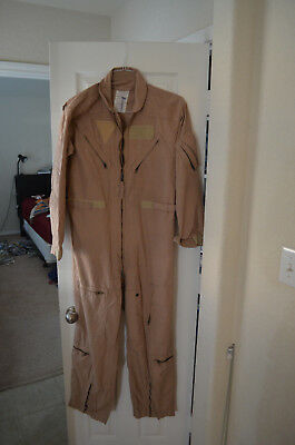 42R Desert Tan Flight Suit - Used