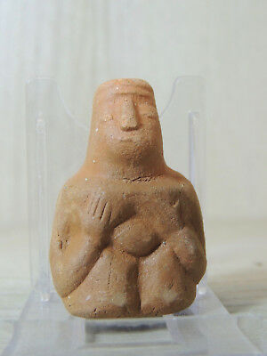 Antique Clay Figure statuette,mother godess,fertility,god,alien,idol