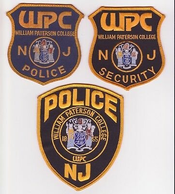 Nj Police Patch - William Paterson College Police And Public Safety