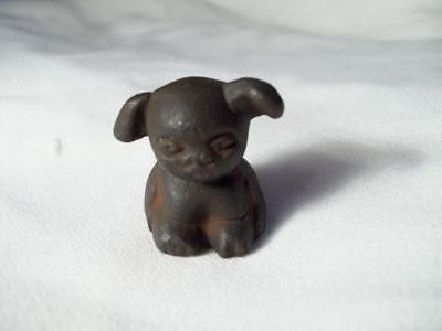 Tiny Mini Cast Iron Griswold Pup Puppy Advertising Dog Paperweight Figure
