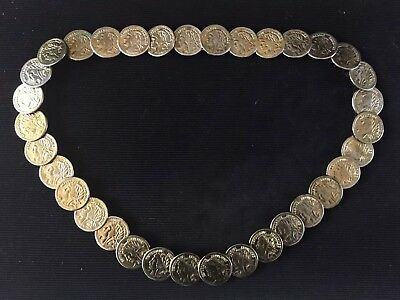 Vintage 1980s Republique Francaise French Republic Coins Belt Neiman Markus Rare