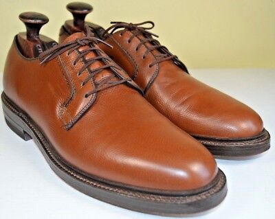 Hanover Brown Plain Toe Blucher US 8.5 M and Accessories Made in USA