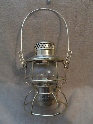 Adlake Kero At&sf Ry Usa-Canada Railroad Presentation Gold Lantern, Excellent