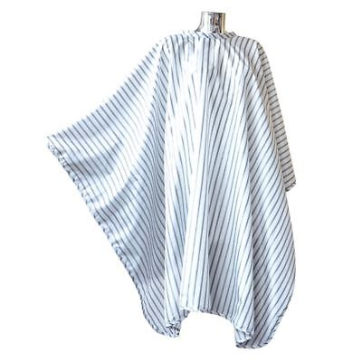 Pro Dmi Vintage Barbering Cape White Pinstripe Polyester For Barbers Use