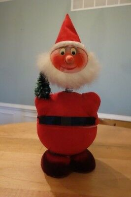 Vintage Western Germany German Santa Candy Container Bobble Head Paper Mache