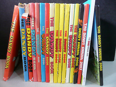 Collection: 17 x The DANDY BOOK Annuals. 70's,80's,90's,00's & 2012. (S6)