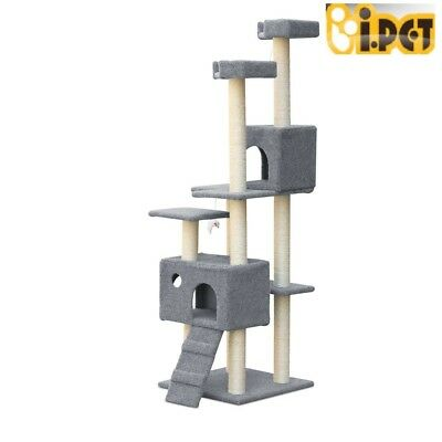 Cat Scratching Post Tree Scratcher Pole Furniture House Toy Multi Level 170CM RT