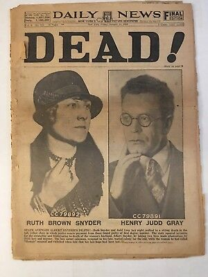 Dead! 1928 Ny Daily News Ruth Snyder Electric Chair Vintage Original Newspaper