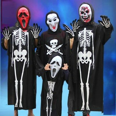 Halloween costume, Party clothes, Scary skeletons Dress & Mask. Fun/screaming