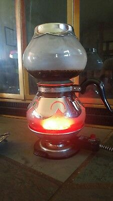 Vintage Glass/Chrome Silex Vacuum Coffee Pot, 8 Cup,  TESTED works 1930's