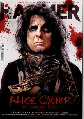 LAST IN STOCK! Metal Hammer Magazine 357 + 2 Posters August 2017 ALICE COOPER