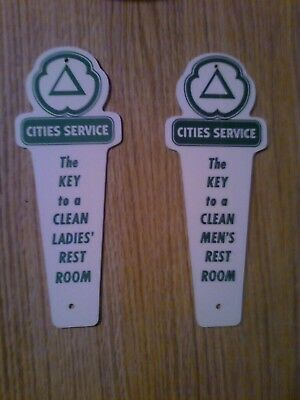 Cities Service Restroom Key Hangers Mens And Ladies Nos