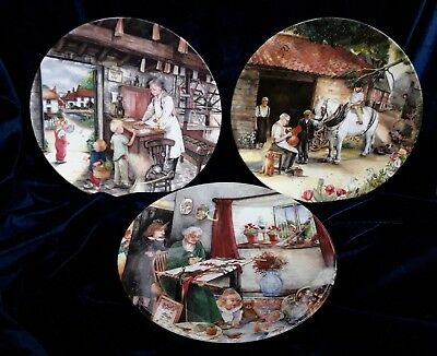 3 Royal Doulton Collectors Plates From The 'Old Country Crafts' Series (B1NOV)