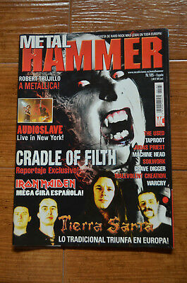 Metal Hammer Magazine Spain 185 - April 2003 Cradle Of Filth Audioslave Cornell