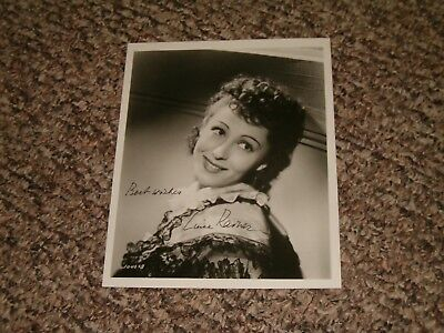 Luise Rainer Hand Signed Autographed 8x10 Photo GUARANTEED AUTHENTIC