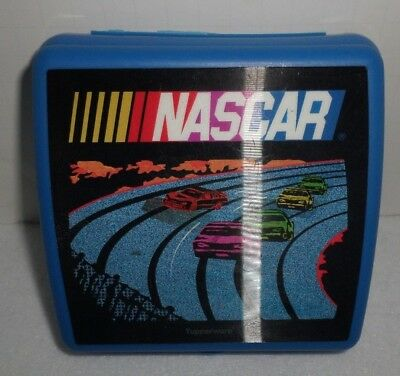 Tupperware Blue Holograph Nascar Sandwich Keeper