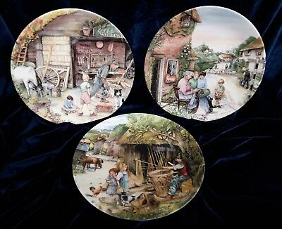3 Royal Doulton Collectors Plates From The 'Old Country Crafts' Series (B14NOV)