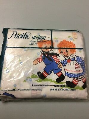 Raggedy Ann and Andy Twin Fitted Sheet Vintage - NEW - Free Shipping!