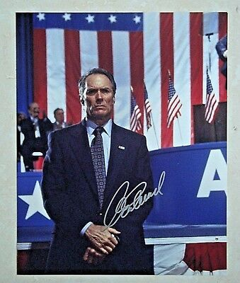 Clint Eastwood / In The Line Of Fire / Signed 8X10  Celebrity Photo / Coa