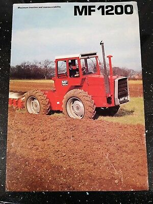 MASSEY FERGUSON 1200 TRACTOR BROCHURE & TRACTION FOR THE 70s BOOKLET..