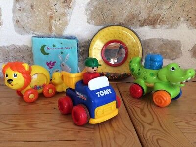 Lot 4 jouets bébé 1er âge - Playskool Tomy Fischer Price - TTBE - 11 photos !!