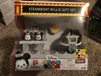 Disney Tsum Tsum Steamboat Willie Gift Set 90 Yrs Of Mickey Walgreens Exclusive
