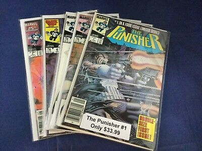 Marvel Comics The Punisher #1-5 Lot (1988) Mini-Series  VF - NM Condition