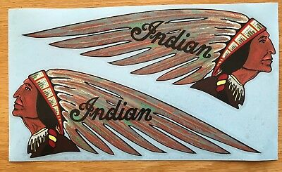 New 1939 Indian Motorcycle Stickers Peel and Stick