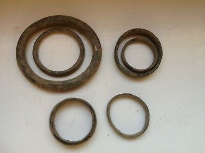 Lot of 6 Celtic - roman rings proto money?