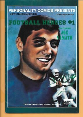 Joe Namath Comic Book - With Limited Edition Insert Cards- Personality Comics #1