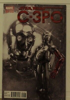 marvel comic star wars special c3po #1 red hand special variant 1:1000