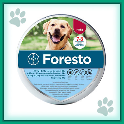 Bayer Seresto/Foresto Flea & Tick Collar For Large Dogs over 18lbs