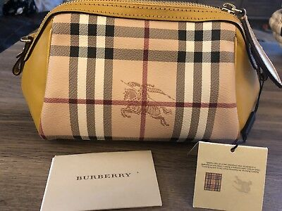 25cad98137a5 Burberry Women s Horseferry Check and Leather Mini Blaze bag Gold Freesia