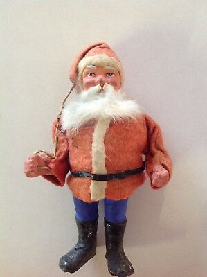 Vintage Antique German Santa composition face Germany 2 Piece Candy? 6""