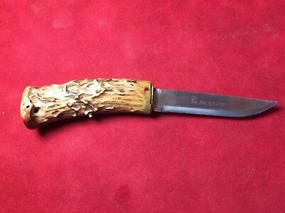 Brusletto Knife Antler Stag Handle Fixed Blade