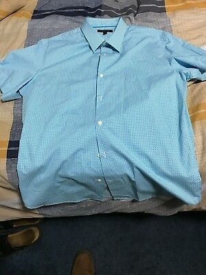 Banana Republic Mens Short Sleeve Button Down Dress/casual Shirt Size Large