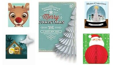 Unusual Boxed Christmas Cards.Christmas Cards Honeycomb Pop Up 3 D Boxed Holiday Joy To