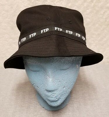 e7a02974f1bf7 FTP FvckThePopulation 100% Cotton Woven Taped Bucket Hat Black Size S M